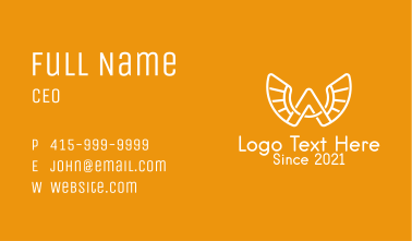 White Wing Letter A  Business Card