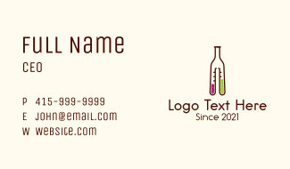 Flask Cocktail Bottle Business Card