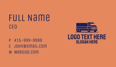 Orange Cargo Truck Business Card