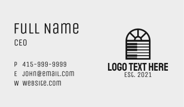 Piano Home Furniture Business Card