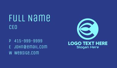 Blue Tech letter C Business Card