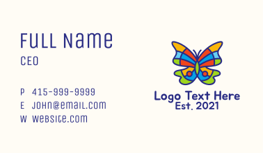 Psychedelic Butterfly Business Card