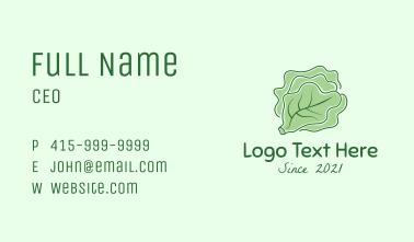 Cabbage Vegetable Minimalist  Business Card