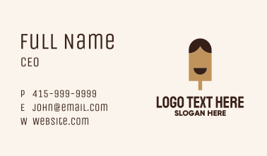 Happy Chocolate Popsicle Business Card