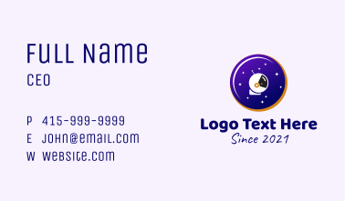 Space Astronaut Donut  Business Card