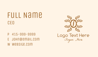 Coffee Leaf Sprout Business Card