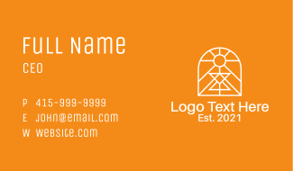 White Symmetrical Window Business Card