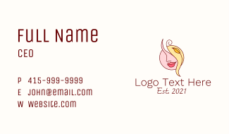Female Face Beautician  Business Card