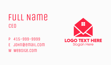Window Mail Envelope Business Card