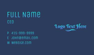 Aqua  Gradient Wordmark  Business Card