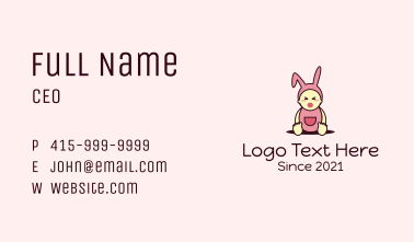 Baby Bunny Costume Business Card