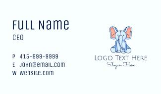 Toy Elephant Plushie Business Card