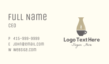Pottery Coffee Shop Business Card