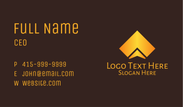 Gold Professional Business Shape Business Card