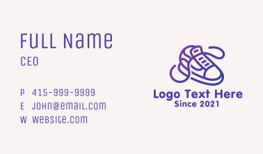 Sneaker Skate Shoes Business Card