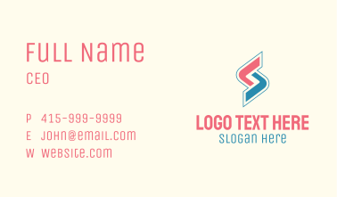 Gaming Letter S Business Card
