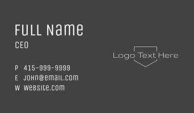 Simple Text Line Art Wordmark Business Card