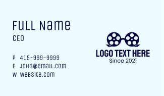 Glasses Film Reel Business Card