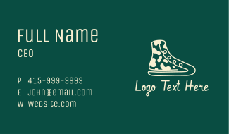 Camouflage Sneakers Business Card
