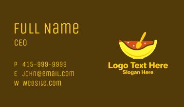 Banana Oatmeal Bowl  Business Card