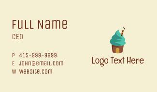 Ice Cream Sundae Shop  Business Card
