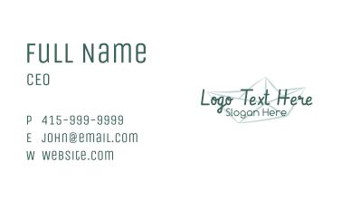 Paper Boat Foundation Wordmark Business Card
