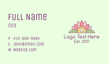 Blooming Lotus Camera Business Card