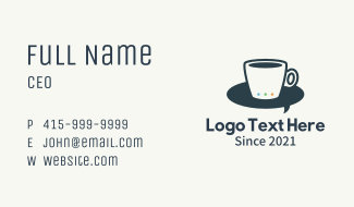 Coffee Cup Messenger Business Card