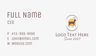 Wildlife Deer Sanctuary Business Card