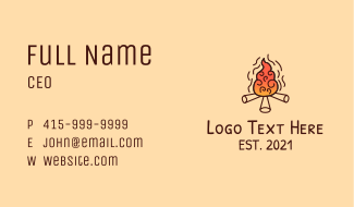 Woodfire Camp Business Card