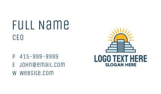 Chichen Itza Landmark Business Card