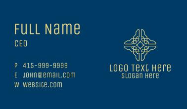 Geometric Cross Pattern  Business Card