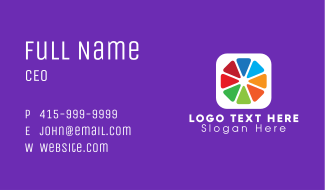 Colorful Editing Application Business Card
