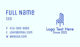 Blue Geometric Chair Business Card