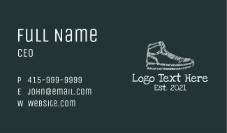 Scribble Sneakers Business Card