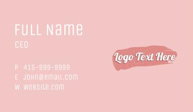 Beauty Cosmetics Wordmark Business Card