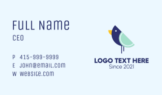 Minimalist Bluebird Business Card