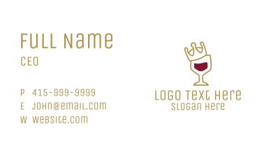 Royal Wine Glass Business Card