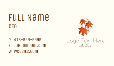 Dry Leaves Design  Business Card