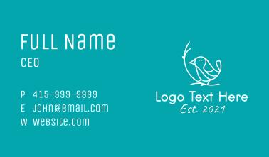 White Happy Bird  Business Card