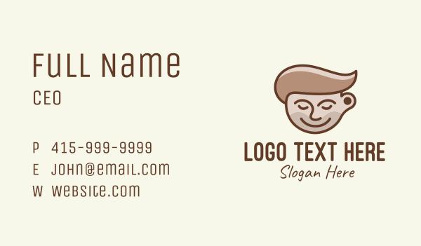 hot choco - Brown Coffee Barista Business card horizontal design