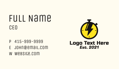 Thunder Stopwatch Business Card