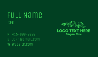 Green Stripe Snake  Business Card