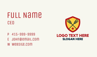 Lacrosse Team Player Business Card