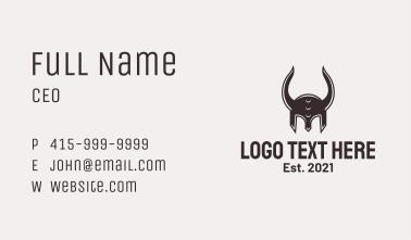 Black Viking Helmet Business Card