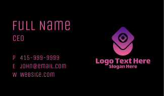 Gradient Decorative Pattern  Business Card