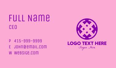 Purple Luxury Button Business Card