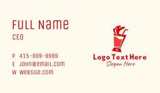 Red Juice Blender  Business Card