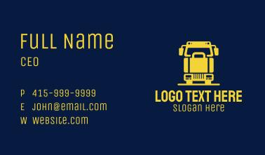 Cargo Briefcase Truck  Business Card