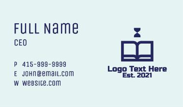 Blue Book Hourglass Business Card